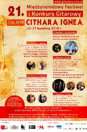 21. Międzynarodowy Festiwal i Konkurs Gitarowy CITHARA IGNEA Kliknięcie w obrazek spowoduje wyświetlenie jego powiększenia