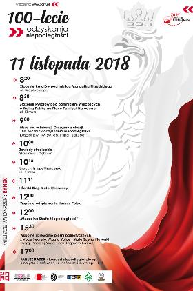 Świętujemy 100. rocznicę odzyskania przez Polskę niepodległości Kliknięcie w obrazek spowoduje wyświetlenie jego powiększenia